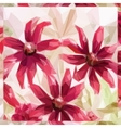Flowers Low Poly Pattern vector image vector image