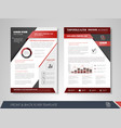 flyer magazine cover brochure business vector image vector image
