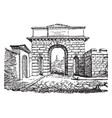 gate at herculaneum an ancient roman town vintage vector image vector image