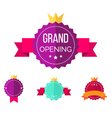grand opening badges vector image vector image