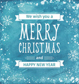Greeting watercolor Card Merry Christmas lettering vector image vector image