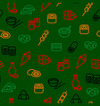 japanese foods seamless pattern background vector image vector image