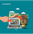 kanban concept flat style design vector image vector image