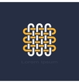 knot symbol vector image vector image