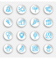 linear icons new year and christmas holidays vector image vector image