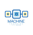 machine learning logo geometric symbol of modern vector image