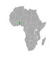 map benin in africa vector image vector image