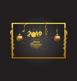 merry christmas and happy new year 2019 background vector image vector image