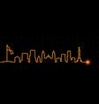 mexico light streak skyline vector image