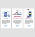mobile app independent development banner set vector image