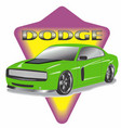 muscle car 1 vector image