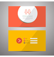 Paper Business Card Template vector image vector image