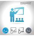 pedagogy icon set vector image vector image
