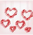 pendant heart of hearts vector image vector image