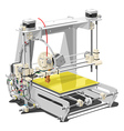 plastic 3D printer vector image