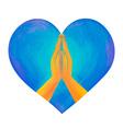 prayer hands vector image vector image