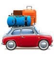 red car with baggage vector image vector image