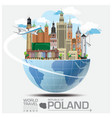 republic of poland landmark travel and journey vector image vector image