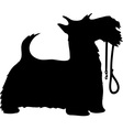 Scotty dog and leash thm vector image