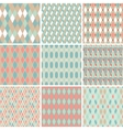 Seamless abstract retro pattern Set of 9 geometric vector image vector image