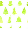 seamless background with christmas tree vector image vector image