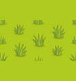 seamless pattern with grass vector image vector image
