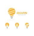 set lamp logo combination lightbulb symbol or vector image