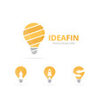 set of lamp logo combination lightbulb symbol or vector image