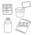set of oral rehydration salt vector image vector image