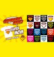 set super mom logo superhero t-shirt design vector image vector image