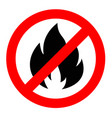 stop or do not fire sign icon prohibition vector image vector image