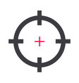 target aim or rifle or gun shot hunt for shooting vector image vector image