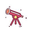 telescope icon design vector image vector image