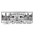 the state banner of rhode island vintage vector image vector image