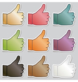 thumbs up stickers vector image