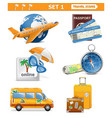 travel icons set 1 vector image vector image