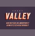 trendy 3d display font design alphabet vector image vector image