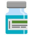 vial icon vaccine glass phial under cap vector image