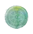 Watercolor mandala isolated element vector image vector image