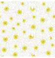 white chrysanthemum seamless background vector image vector image