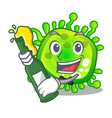 With beer virus cells bacteria microbe isolated
