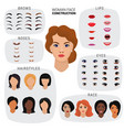 woman face constructor female character vector image vector image
