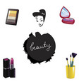 set of decorative cosmetics isolated on white vector image