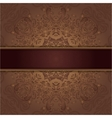 card with abstract lace pattern and ribbon vector image