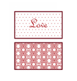 Valentines day Lace invitation card vector image