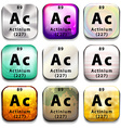 A periodic table showing Actinium vector image
