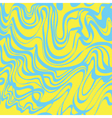 Abstract blue and yellow moire bubble gum pattern vector image vector image
