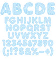 alphabet letters numbers and signs from drops vector image vector image