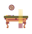 billiard table flat icon vector image vector image