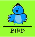 bird hand-drawn style vector image